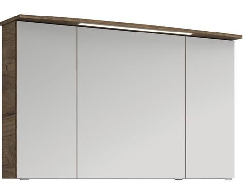 Spiegelschrank Pelipal Xpressline 4010 120x70,3x17 cm 3-türig Eiche natur
