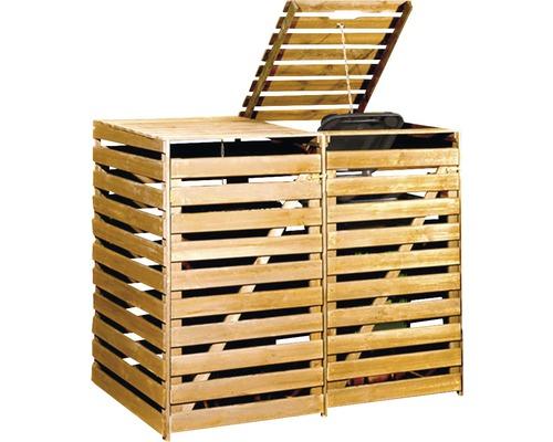 Mülltonnenbox weka 148x92x122 cm honigbraun