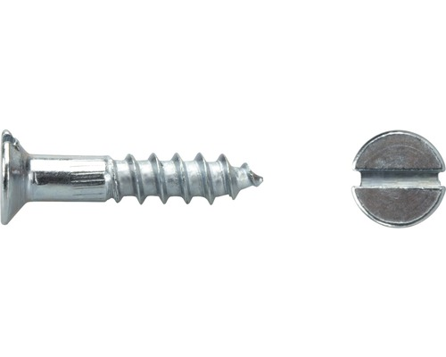 Holzschraube Senkkopf m. Schlitz 2,5 x 16 mm, DIN 97, Galv. verz., 100 Stück