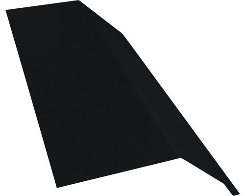 PRECIT Rinneneinhang ohne Wasserfalz Big Stone jet black RAL 9005 1 m