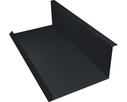PRECIT Wandanschlußblech für Metallziegel Big Stone graphite grey RAL 7024 2000 x 100 x 115 mm