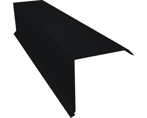 PRECIT Kantenwinkel für Metallziegel Big Stone jet black RAL 9005 2 m