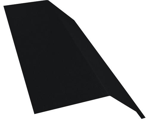 PRECIT Rinneneinhang ohne Wasserfalz Big Stone jet black RAL 9005 2000 x 83 x 65 mm
