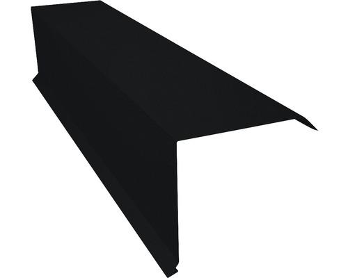 PRECIT Kantenwinkel für Metallziegel Big Stone jet black RAL 9005 1000 x 95 x 100 mm