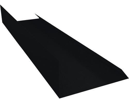 PRECIT Kantenwinkel Schürze Big Stone jet black RAL 9005 2 m