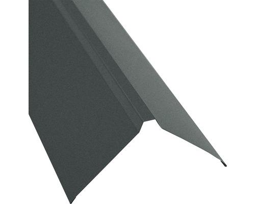PRECIT Dachfirst gerade für Trapezblech S18 grau matt RAL 7016 2000 x 95 x 95 mm