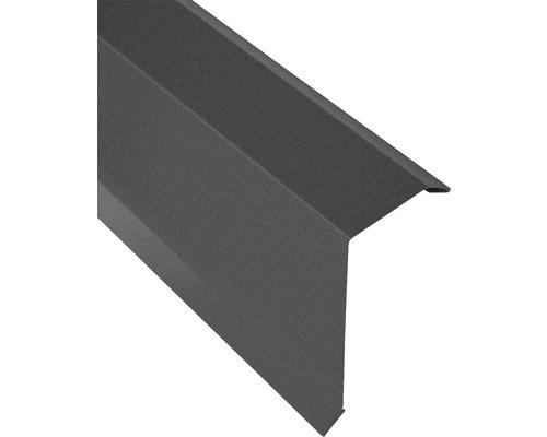 Kantenwinkel für Trapezblech S18 grau matt 2 m