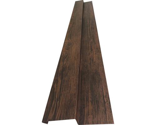 Sockelblech für Wandpaneel nussbaum 2 m