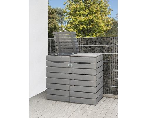 Mülltonnenbox Konsta Style Typ 545 doppelt 142 x 81 x 120 cm grau