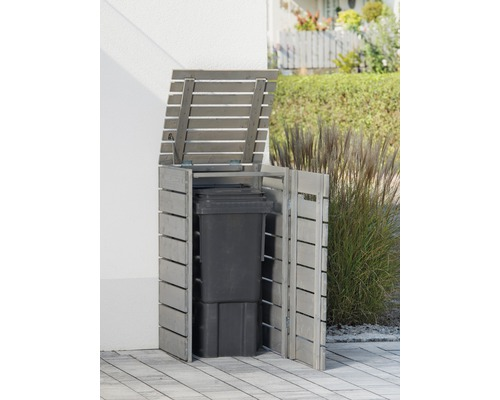 Mülltonnenbox Konsta Style Typ 545 einzeln 61x64x120 cm grau