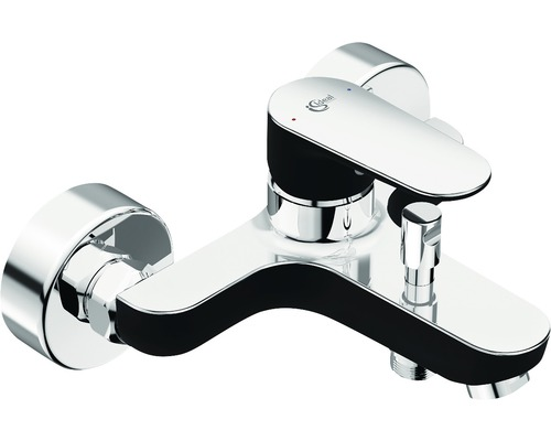 Badewannenarmatur Ideal Standard Tyria BC157HS schwarz matt/chrom