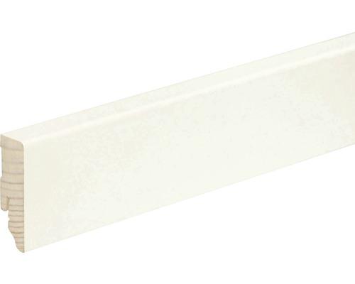Sockelleiste eckig weiß lackiert 18x58x2400 mm