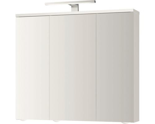 LED-Spiegelschrank Jokey Arda 72,5x68,5x19,5 cm 3-türig weiß