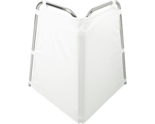 Duschspritzschutz Hewi Serie 802 LS weiß Stangen 108x95 cm verchromt