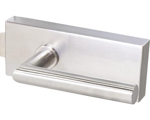 Beschlag-Set Norwegen für Glastüren Edelstahloptik unverschließbar
