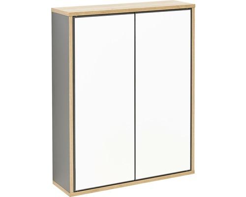 Spiegelschrank Fackelmann FINN 60x75x18,5 cm 2-türig anthrazit/asteiche