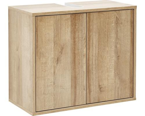 Waschbeckenunterschrank Fackelmann Finn 50x60x30,5 cm Asteiche ohne Waschbecken