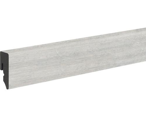 Sockelleiste KU048L 15x39x2400 mm PVC Eiche grau