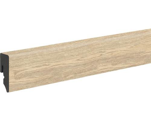 Sockelleiste PVC risseiche natur foliert 15x39x2400 mm