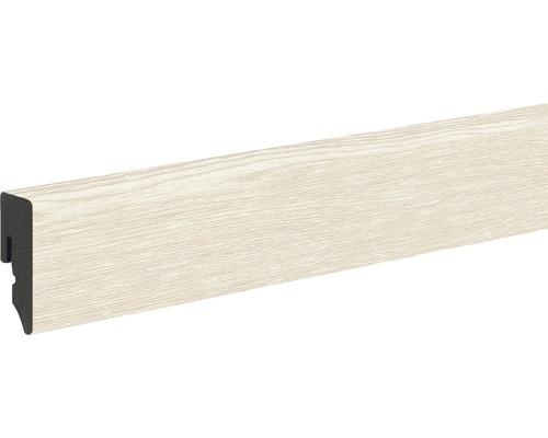 Sockelleiste KU048L 15x39x2400 mm PVC Eiche creme