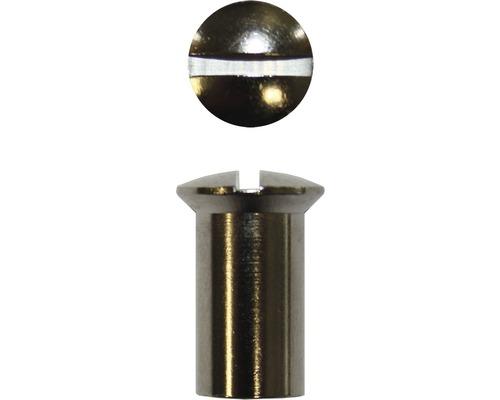 Hülsenmutter 6 mm Messing vernickelt, 4 Stück