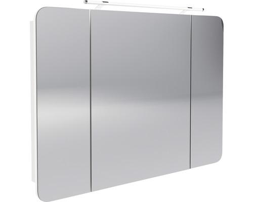LED-Spiegelschrank Fackelmann Milano 110x78x15,5 cm 3 -türig weiß