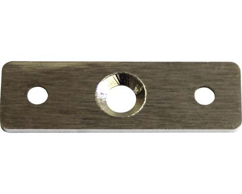 Anschraubplatte flach Edelstahl für Rohrträger 65x20x2 mm