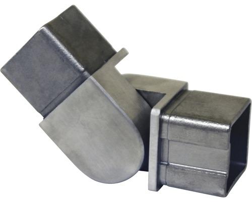 Rohrverbinder mit Gelenk Edelstahl für 40x40 mm
