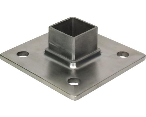 Boden-/Wandanker Edelstahl für 40x40 mm
