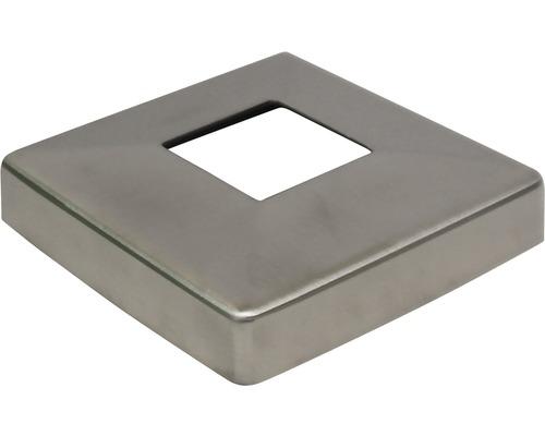 Abdeckrosette Edelstahl für 40x40 mm