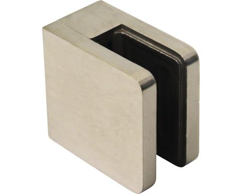 Glashalter flach Edelstahl 52x52 mm 2 Stück