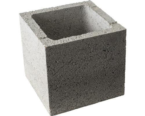 Pfeilerstein Hochbau grau 25x25x25 cm