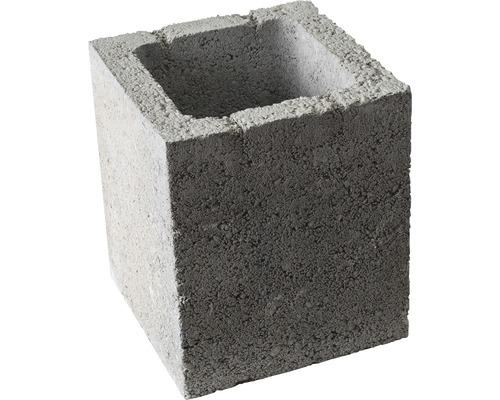 Pfeilerstein Hochbau grau 20x20x25 cm