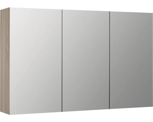Spiegelschrank Reno Eiche 120x18x70 cm 3-türig eiche