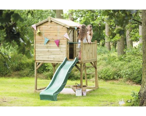 Stelzenhaus PLUM® Premium Holz mit Rutsche grün