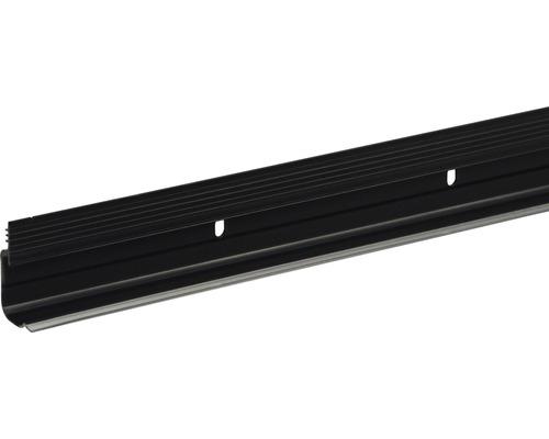 Click-Fix mit Dichtlippe schmal schwarz transparent 15x27x2400 mm