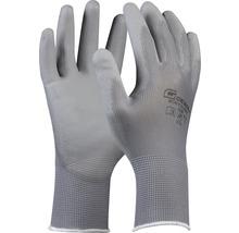 Montage-Handschuh grau PU-Beschichtung Gr. 9