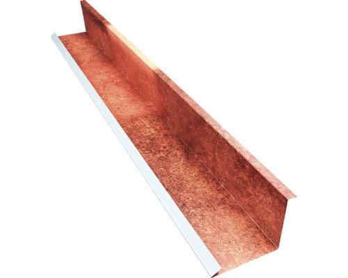 PRECIT Wandanschlußblech für Metallziegel Spanish Andalusia 2000 x 100 x 115 mm