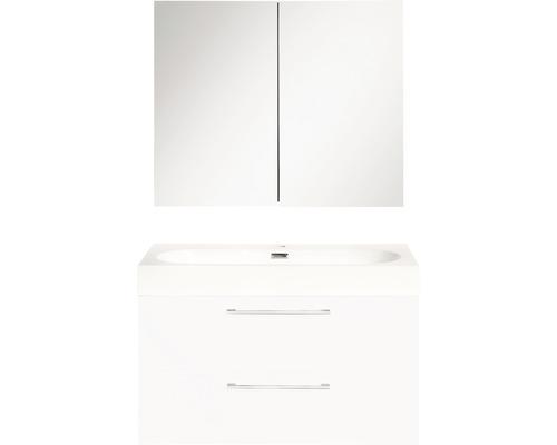 Badmöbel-Set Somero 36.104.83 170x60x38 cm hochglanz weiß