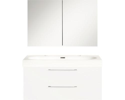 Badmöbel-Set Somero 170x100x38 cm hochglanz weiß