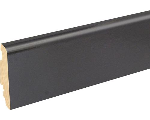 Sockelleiste FU060L 19x58x2400 mm MDF schwarz glänzend