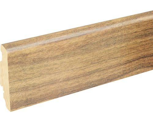 Sockelleiste FU060L 19x58x2400 mm MDF Mor. Walnut glänzend