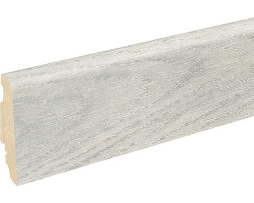 Sockelleiste FU060L 19x58x2400 mm MDF White Oak glänzend