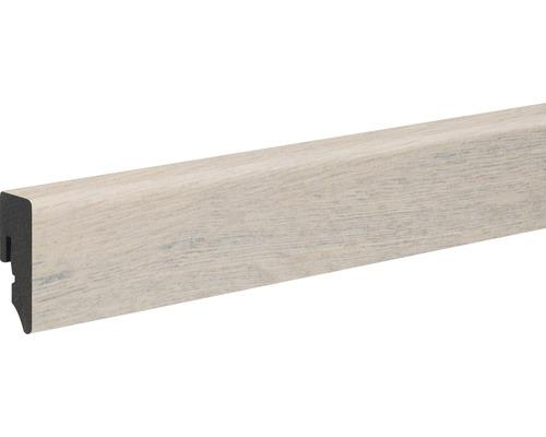 Sockelleiste PVC risseiche dunkel foliert 15x39x2400 mm