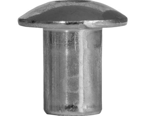 Hülsenmutter M6 Flachrundkopf verzinkt, 100 Stück