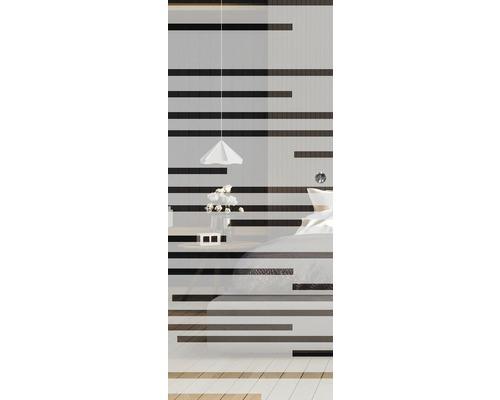 Glasschiebetürblatt Pertura Multistripe 92x205 cm Links