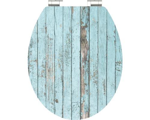 WC-Sitz Schütte Blue Wood mit Absenkautomatik