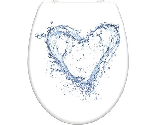WC-Sitz Schütte Blue Heart mit Absenkautomatik