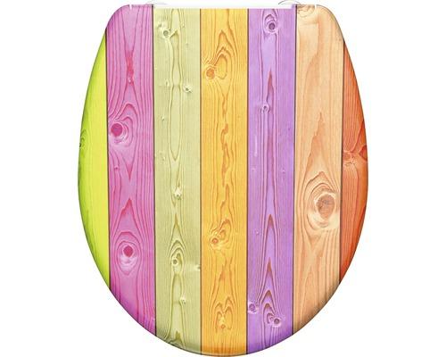 WC-Sitz Schütte Colorful Wood mit Absenkautomatik
