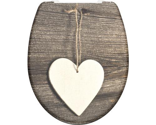 WC-Sitz Schütte Wood Heart mit Absenkautomatik